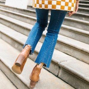 Blogger Favorite Neon Blonde Raw Hem Bell Jeans